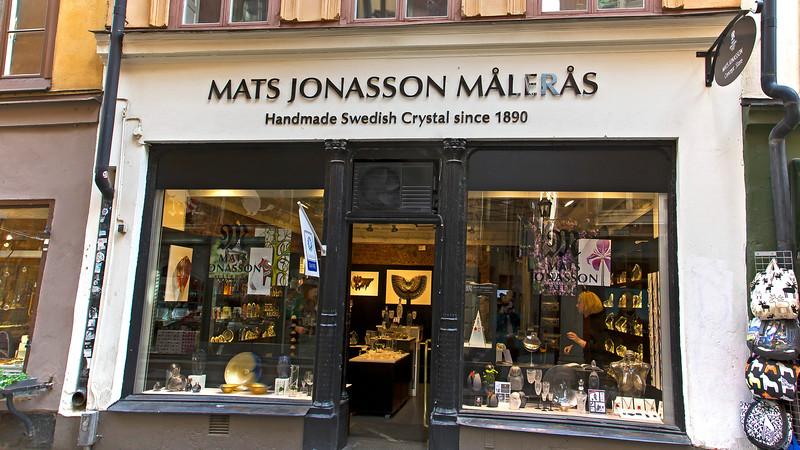 Crystal shop, Västerlånggatan Old town Stockholm