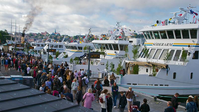 Midsummer celebration, ship to archipelago, Stockholm
