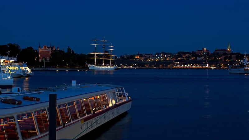 The hostel ship af Chapman and Skeppsholmen and Södermalm Stockholm  The ship is built 1888, since 1949 hostel in Stockholm.