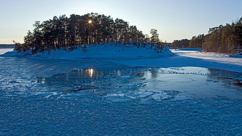 Stockholm archipelago in winter