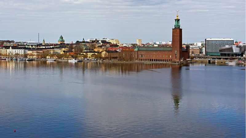 Norr Mälarstrand and City Hall in Stockholm
