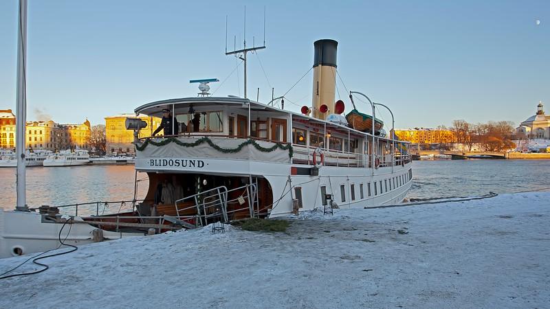 Ship Blidösund in winter Stockholm