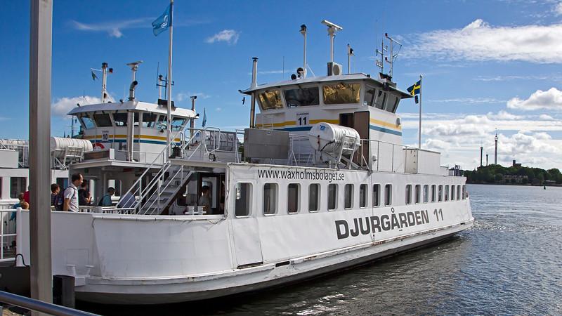 Ferry from Slussen to Djurgården Stockholm