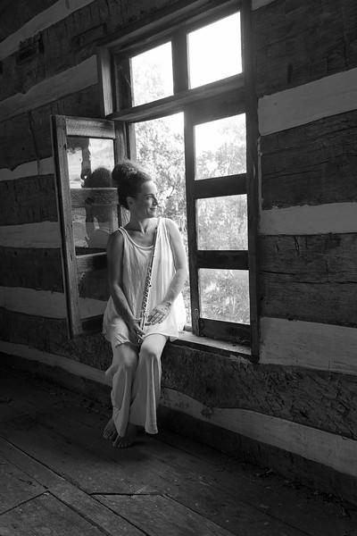 Nina Assimakopoulos posing for photos at Dorsey Knob