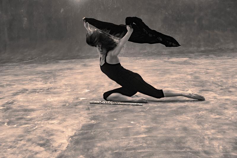 Nina practicing movement