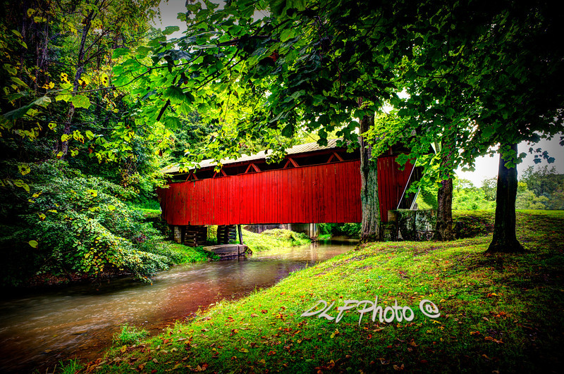 """Covered Bridge In Pa<br /> <br /> Framed, metal, canvas order at this website - <a href=""""http://fineartamerica.com/featured/covered-bridge-in-pa-dan-friend.html"""">http://fineartamerica.com/featured/covered-bridge-in-pa-dan-friend.html</a>"""