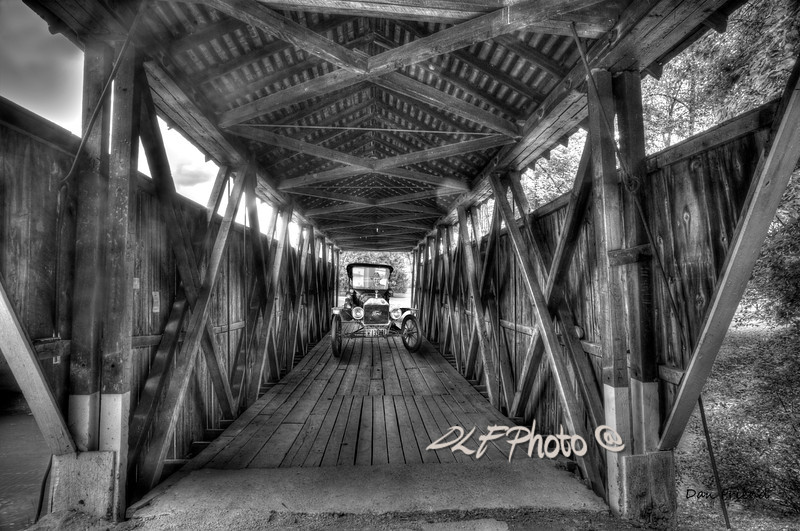 "Old car on covered bridge<br /> <br /> Framed, metal, canvas order at this website - <a href=""http://dan-friend.artistwebsites.com/featured/old-car-on-covered-bridge-dan-friend.html"">http://dan-friend.artistwebsites.com/featured/old-car-on-covered-bridge-dan-friend.html</a>                                                                              ..................................pixel paintography"