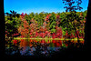 Fall scenes on lake reflections