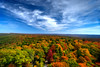 Fall scene top of mountain
