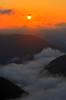 Orange sunrise over Cheat River