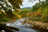 Mountain stream flowing in early Fall