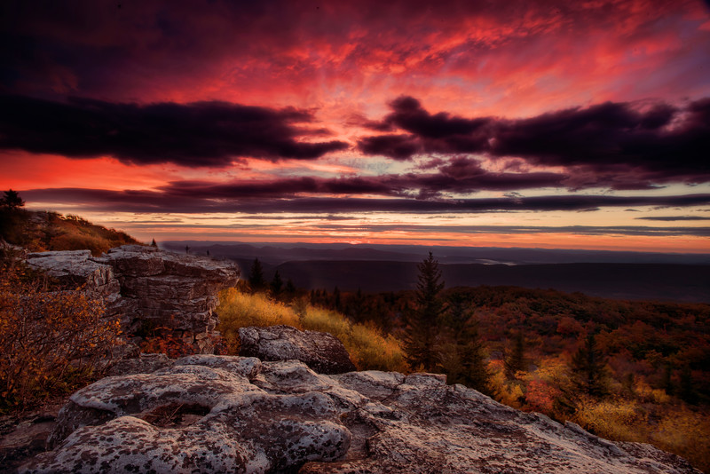 Early day at Bear Rocks dolly sods WV