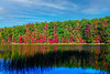 Fall scene At lake at Coopers Rocks
