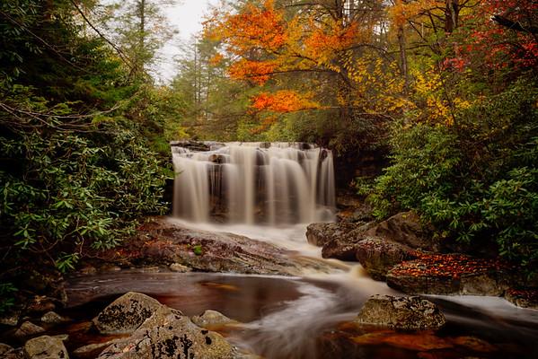 Upper Falls waterfall on Big Run River
