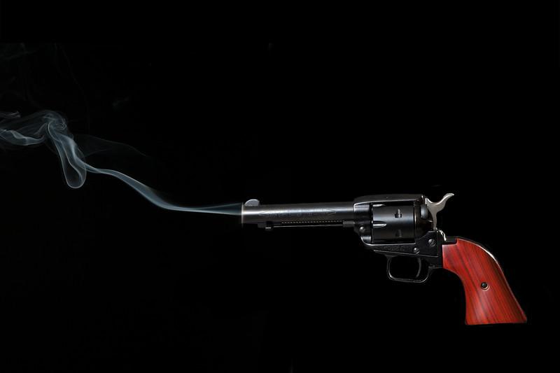 pistol smoking
