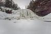Blackwater Falls frozen white