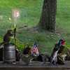 Backyard Squirrels enjoying fourth of July