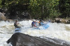 Kayakers and raftes on the Gauley River