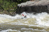 Kayakers and rafts on the Gauley River