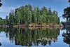"""Reflection island Lake of Woods Canada<br /> <br /> to purchase - <a href=""""http://dan-friend.artistwebsites.com/featured/island-at-lake-of-woods-at-canada-dan-friend.html"""">http://dan-friend.artistwebsites.com/featured/island-at-lake-of-woods-at-canada-dan-friend.html</a>"""