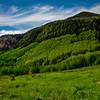 Green mountain scene near Vail Colorado