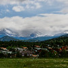 Small town in foothills of the Rocky Mountains