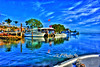 """Boat Docks On Bay<br /> <br /> Framed, metal, canvas order at this website - <a href=""""http://fineartamerica.com/featured/boat-docks-on-bay-dan-friend.html"""">http://fineartamerica.com/featured/boat-docks-on-bay-dan-friend.html</a>"""
