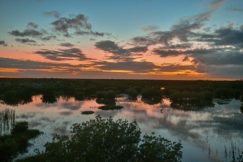 Sunset in Thousand Islands Everglades