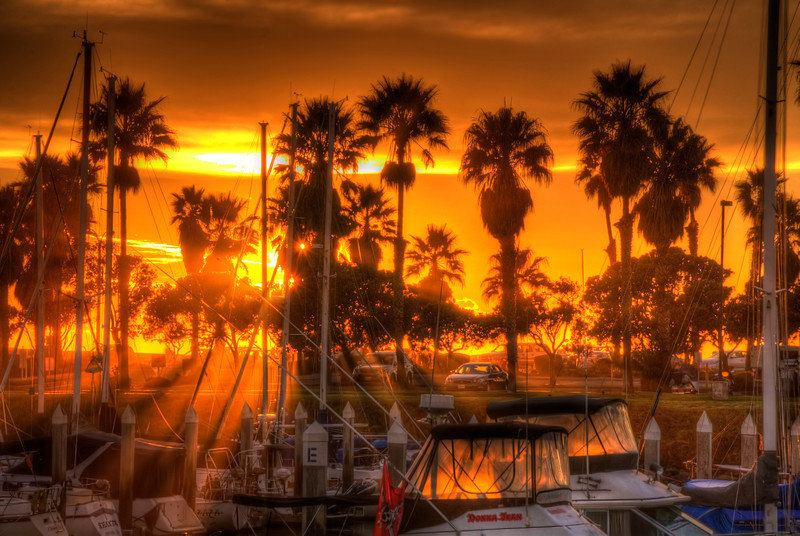 Sun setting at marina                                                                        Prints or digital files can be purchased by e mailing DFriend150@gmail.com