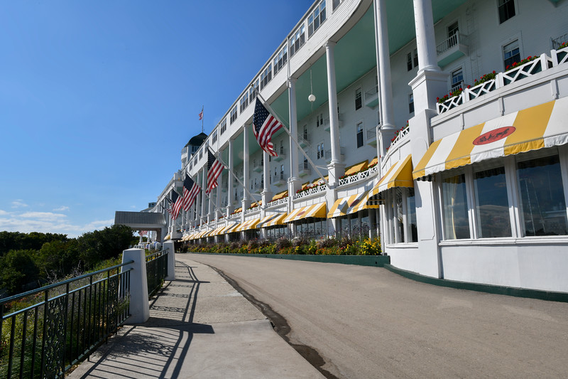 Grand Hotel with flags flying