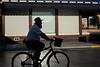 silhouette man on bike