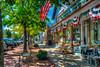 Shopping street scene in the Hamptons