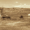 Abandoned farm in South Dakota textured