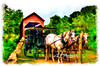 "Horse And Buggy In Front Of Covered Bridge<br /> <br /> Framed, metal, canvas order at this website - <a href=""http://fineartamerica.com/featured/horse-and-buggy-in-front-of-covered-bridge-dan-friend.html"">http://fineartamerica.com/featured/horse-and-buggy-in-front-of-covered-bridge-dan-friend.html</a>"