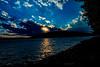 Sunset at Deep creek blue sky