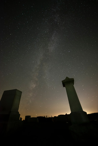 Milky Way in the cemetary