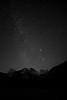 Stars behind Seneca Rocks