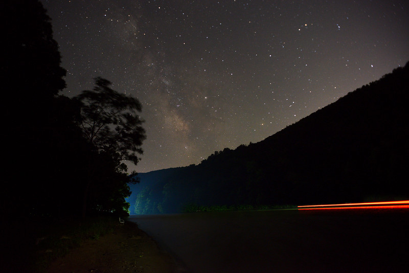 Milky Way at nightime Cheat Lake