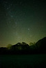 Starry night at Seneca Rocks
