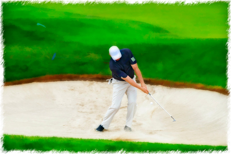 Blasting out of sand trap