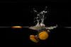 Splashing oranges