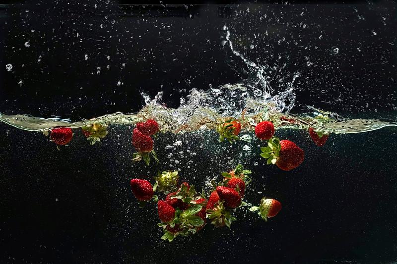 Strawberries enjoying themselves