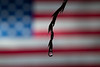 Water drop reflection American Flag