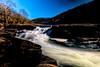 Water twisting between the rocks