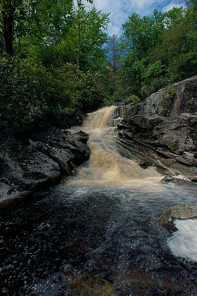 Waterfall on Big Run river stream