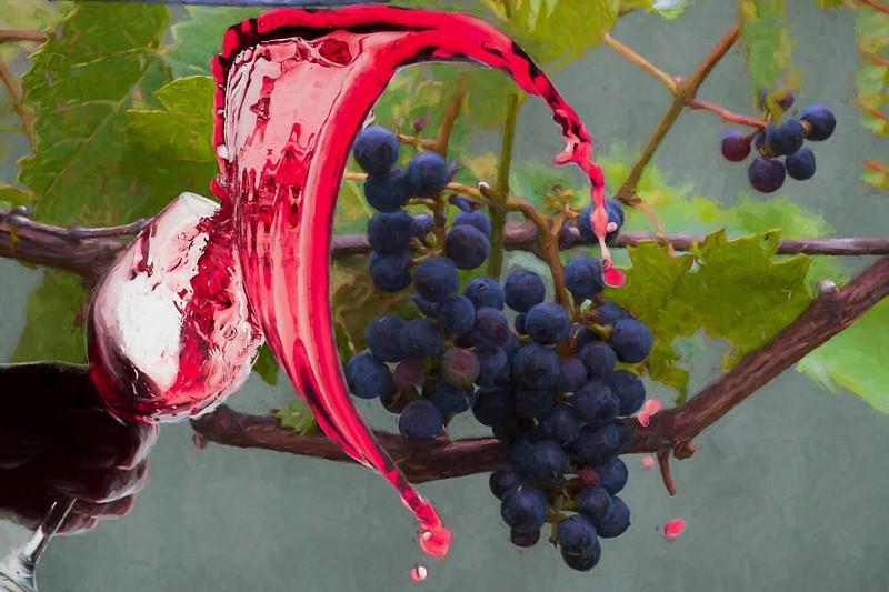Liquid grape spill