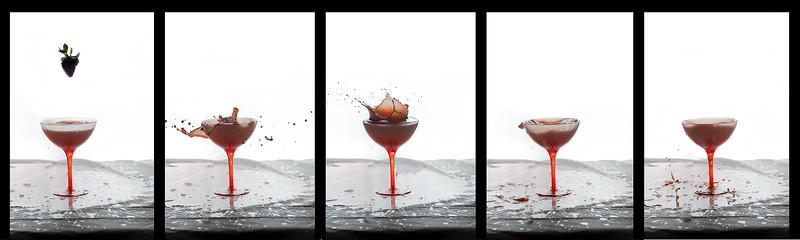Strawberry wine drop