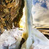 Beautiful landscape with melting ice to show the spring time or global warming climate change.