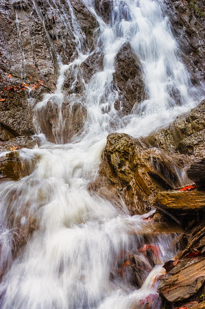 Calm and beautifull scene with cascade flowing water.