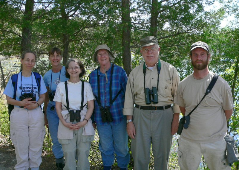 Six of our Bioblitzers:  Julie Akers, Janet Kowalski, Pam Hendrick, Betsy Searight, John Searight, and Bob Diebold